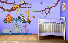 chambre bébé stickers chambre enfant stickers chambre bébé thème jungle murs bleus