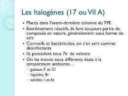 les halogenes le tableau périodique des éléments ppt télécharger