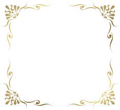 Transparent Decorative Frame Border PNG Picture