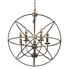 Orb Ceiling Light Neutype 5 Lights Sphere Orb Chandeliers Antique Design Ceiling