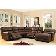 creative of leather sectional with chaise and recliner recleiner