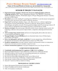 project management resume example 10 free word pdf sample project