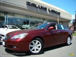 black lexus 2007 2007 lexus es 350 in royal ruby red metallic 104638