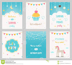 many stock birthday party invitation card vector creation vector set of birthday and sleepover kids party invitations stock