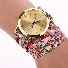 pink bracelet watches images 2017 new ladies watch women white pink watch flower cloth straps jpg