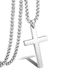 stainless cross necklace images Jstyle jewelry mens simple cross necklace stainless steel pendant jpg