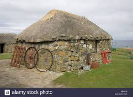 old crofters cottage museum of island life isle of skye scotland