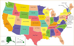 united states map with states names and capitals popular 184 list us states map