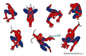 7 comic spiderman drawings action