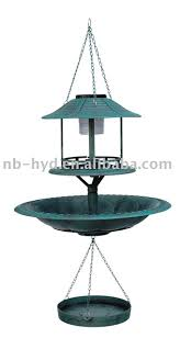 Bird Solar Lights by Hanging Bird Feeder With Solar Light Hanging Bird Feeder With
