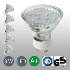 Wohnzimmer Lampe Wieviel Lumen Led Lampe Gu10 5er Set Led Birne 3 Watt Glühbirne 250 Lumen