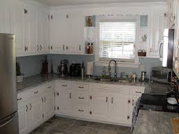 White Kitchen Granite Ideas by Concrete Kitchen Countertops With White Cabinets Monsterlune