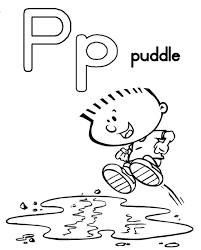 puddle free alphabet coloring pages alphabet coloring pages of