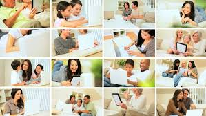 bedroom scenes montage scenes happy african american family generations in home