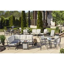 Propane Fire Pit Sets With Chairs Cosco Outdoor Serene Ridge Aluminum Propane Gas Fire Pit Table