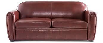 canapé marron cuir canapé cuir marron clair 3 places cuir de vachette miliboo