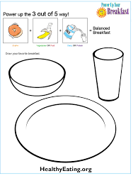 power up your breakfast coloring sheet