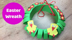 easter paper wreath easy craft for kids youtube