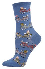 vintage bicycle womens socks whimsical socks for