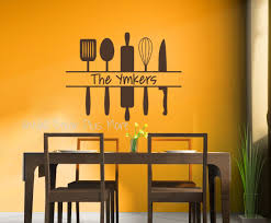 Kitchen Utensils Names by Personalized Kitchen Wall Art Custom Name With Utensils Wall Decal