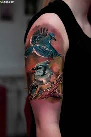 lovely 3d flying love bird tattoo for arm golfian com