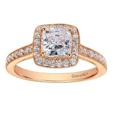 gold halo engagement rings cushion cut gold halo engagement ring the jewelers you can