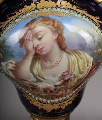 Sevres Vases For Sale Pair Of 19th C Jewled Sevres Porcelain Vases For Sale Antiques