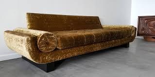 mid century sleigh leg gondola sofa in the manner of james mont