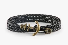 anchor bracelet black images Anchor bracelet brass jules verne store jpg