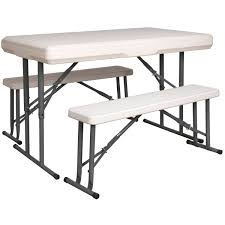 Folding Table And Bench Set Sealey Gl87 Portable Folding Table U0026 Bench Set Gl 87