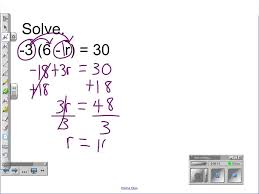 distributive property combining like terms solving two step