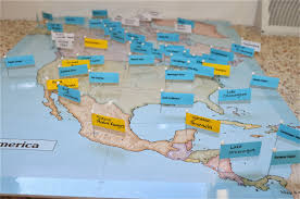North America Physical Map What Did We Do All Day Diy Pin Maps Cabinet Of World Parts