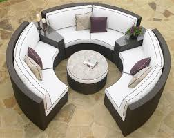 Remarkable Round Patio Furniture Snapshot Inspiration Home - Round outdoor sofa