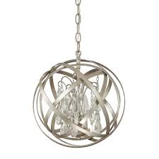 3 light pendant with crystals included