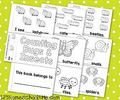 free count 10 bugs coloring book