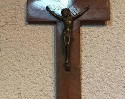 wooden crucifix wooden crucifix etsy