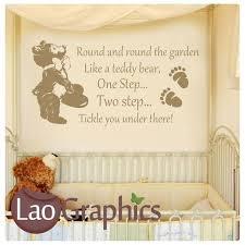 round u0026 round the garden wall stickers home decor art decals