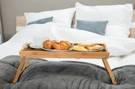 Bed Trays With Legs Vina Bamboo Breakfast Bed Tray Table Laptop Bed Tray With