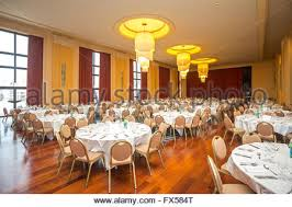 dining room inside a luxurious french restaurant stock photo