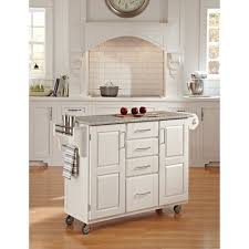 kitchen islands with granite top home styles large kitchen cart white salt pepper granite top