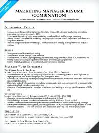 sample marketing manager resume sample resume for marketing