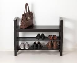 hemnes bench with shoe storage black brown shoe bench hemnes