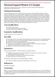 Sample Resume For Cleaning Job by Personal Support Worker Cv Sample Myperfectcv