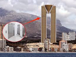 Houses With Elevators 47 Story Spanish Skyscraper Has An Elevator Business Insider