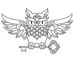 34 Best Owl Tattoo Coloring Sheets Images On Pinterest Colouring Owl Color Pages