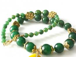 jade gold necklace images Wire wrapped yellow agate faceted green jade and aventurine jpg