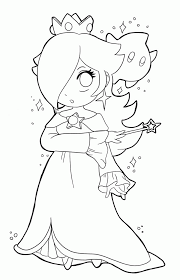 coloring pages to print of rosalina from mario coloring home