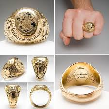 tiffany rings man images Tiffany co mens united states naval academy ring solid 14k gold jpg