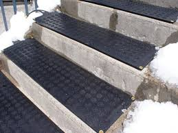 Rubber Patio Mats Stair Home Exterior Design With Gray Concrete Stairs Combine With