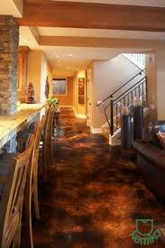 Basement Floor Stain by Wood Look Concrete Acid Stain This Is How Want To Do My Floors In
